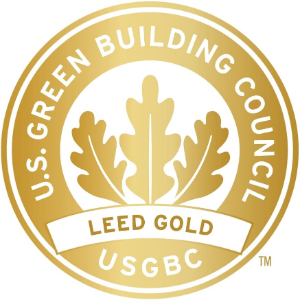 Siegel LEED gold zertifiziert