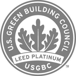 Siegel LEED platinum zertifiziert
